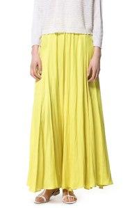 falda larga zara amarilla 29,95