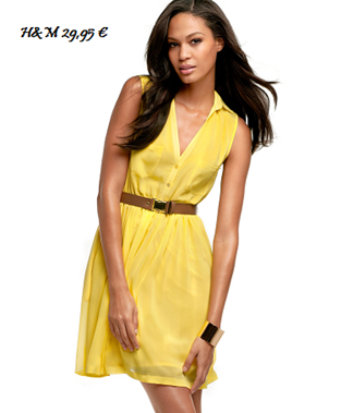 vestido amarillo h&m