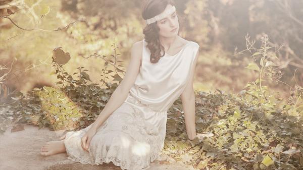 vestido novia retro larca
