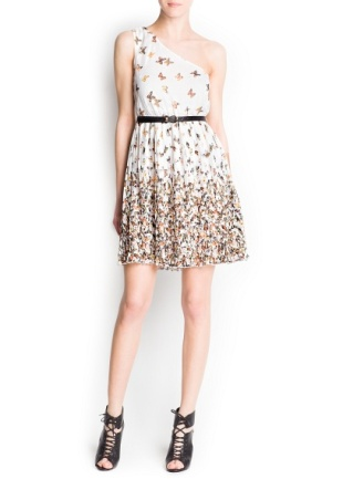 vestido asimetrico mango 29,99 euros