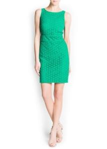 vestido mango verde comunión