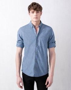 Colección-Pull-and-Bear-Primavera-camisa-hombre-manga-larga