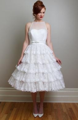 vestidos novia años 50