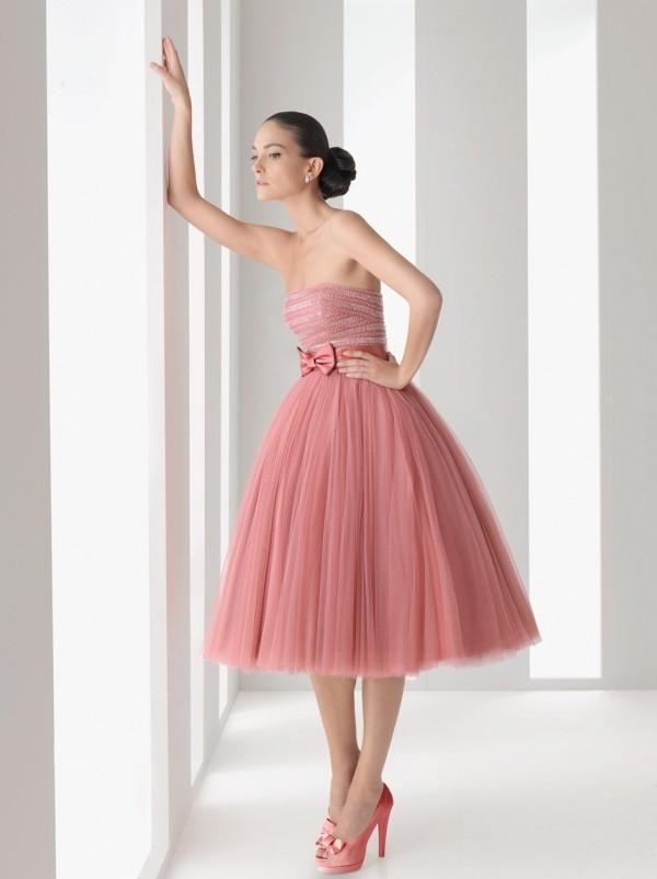 rosa clara vestidos invitada rosa