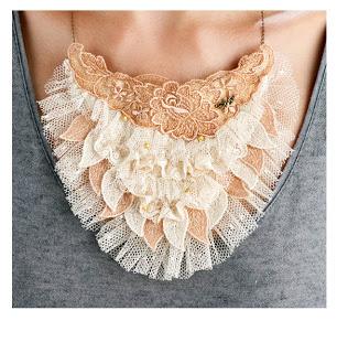 collar encaje vintage moda vintage