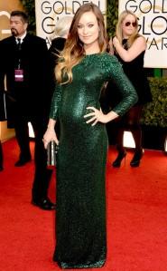 olivia-wilde-alfombra-roja-de-los-globos-de-oro-2014-embarazada-vestido-de-fiesta-gucci-lentejuelas-red-carpet-awards-golden-globes