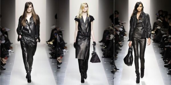 vestidos de cuero negro